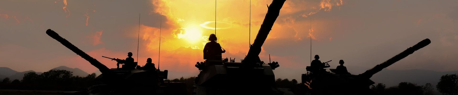 Tanks in the sunset