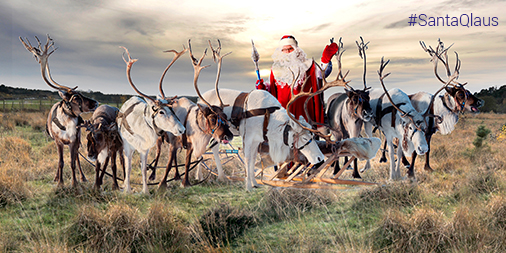 Santa and reindeer on Eelmoor Marsh