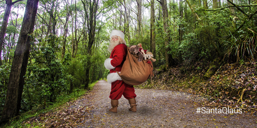 Santa on the Kokoda Trail in Papua New Guinea