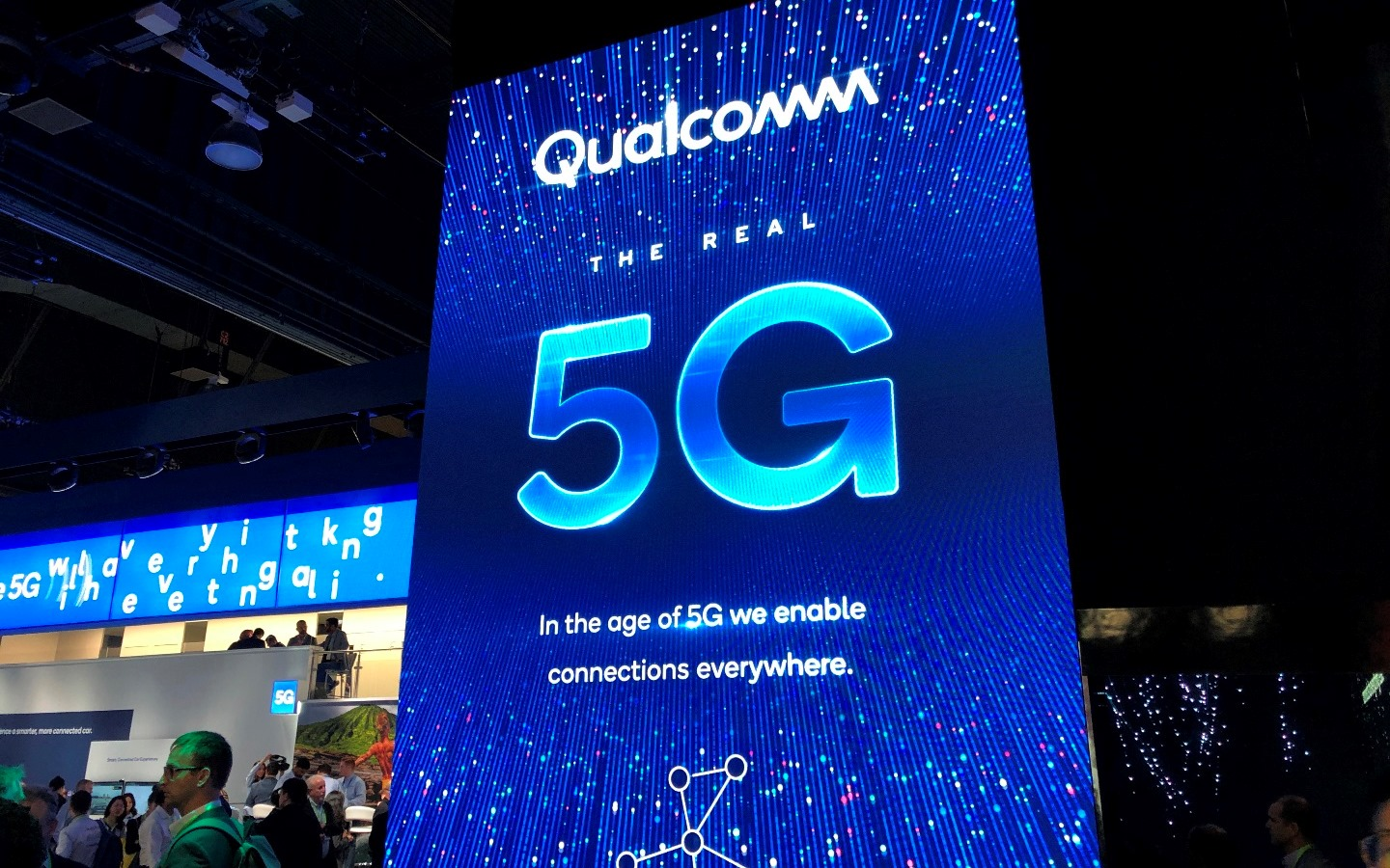 5G stand at CES event