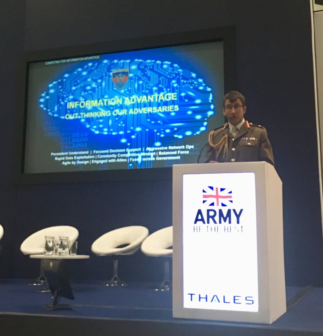 Jonathan Cole speaking at DSEI 2019