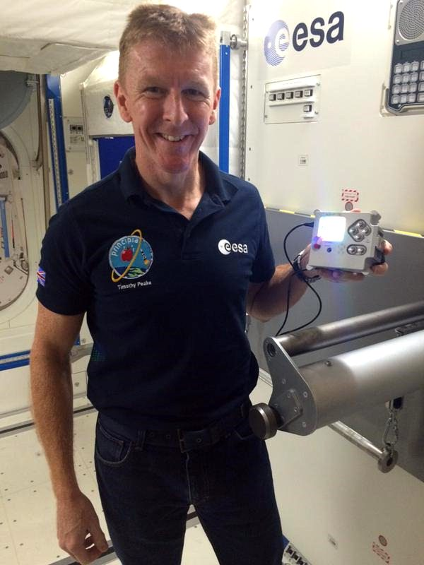 Tim Peake with AstroPi