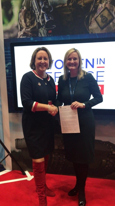 QinetiQ HR Director with Women in Defence Charter