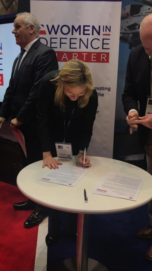 QinetiQ HR Director signs Women in Defence Charter