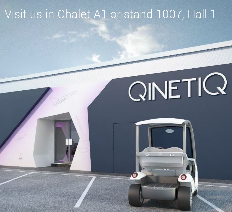 Image of outside of QinetiQ chalet at FIA 18