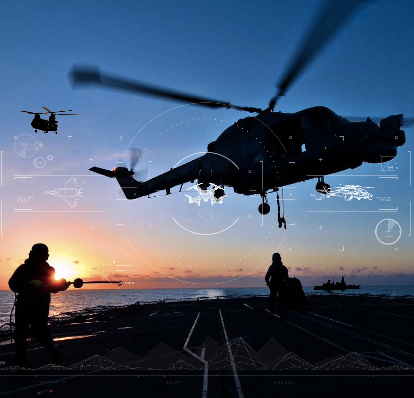 Helicopter landing on an aircraft carrier
