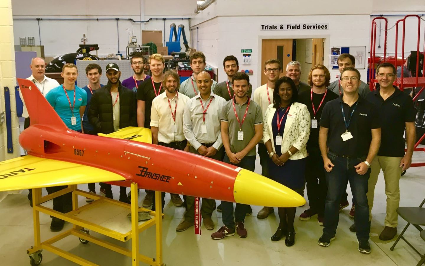 QinetiQ visit hits the target for UAS Challenge winners