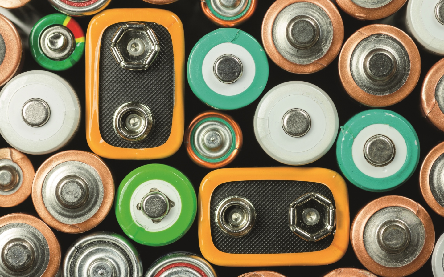 image of various batteries