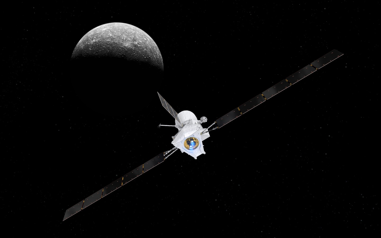 Super-efficient 'electric engines' set BepiColombo on its trajectory to Mercury