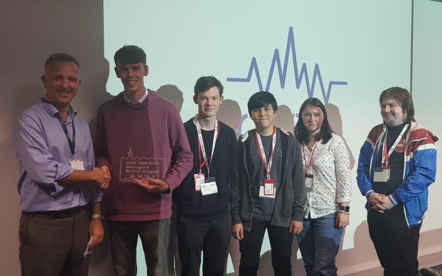 Cyber Security Challenge 2018 winners with James Willis