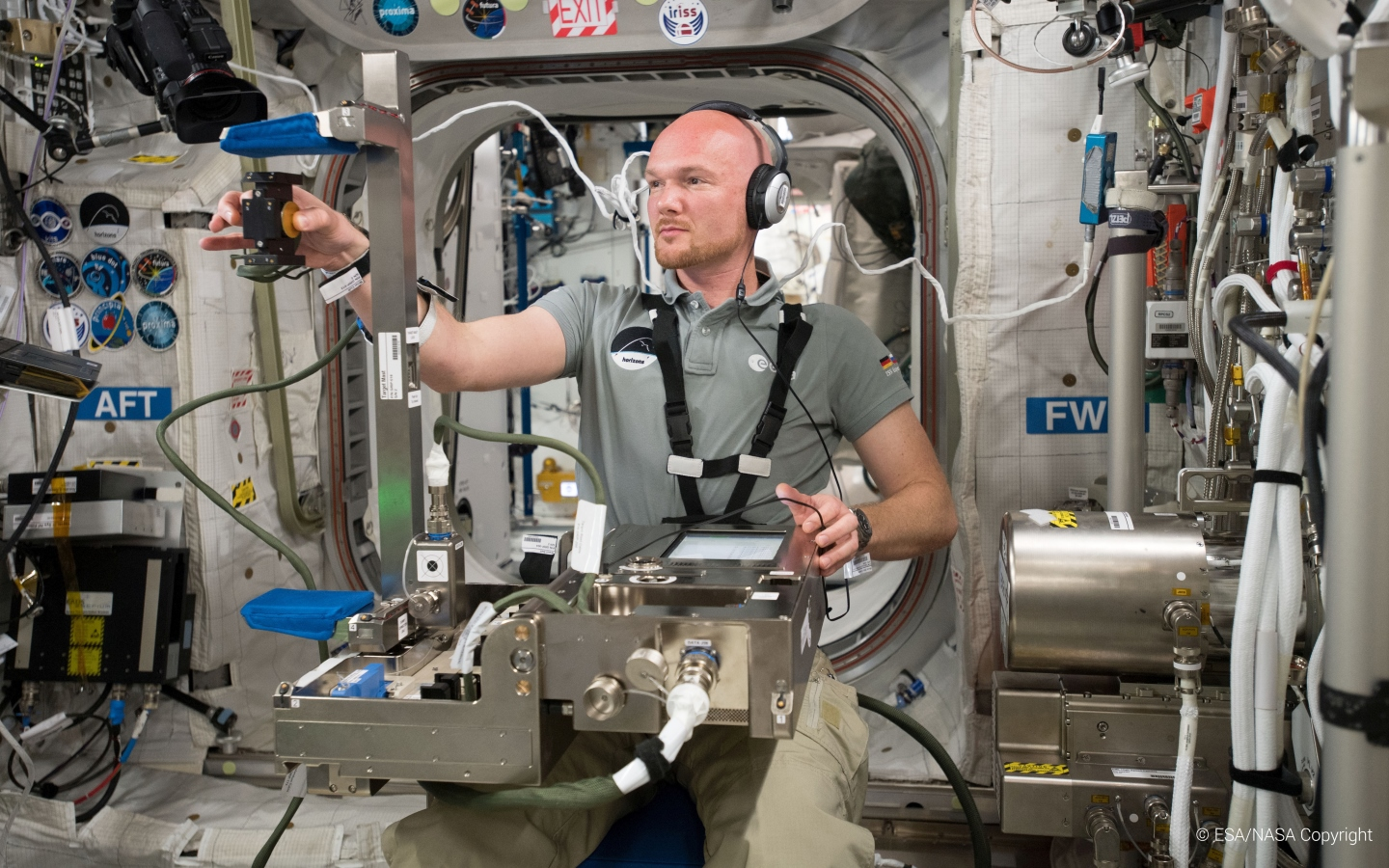 Gripping human senses experiments take place at International Space Station for the second time