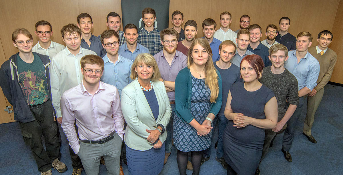 Harriett Baldwin MP meets new intake of QinetiQ graduates in Malvern