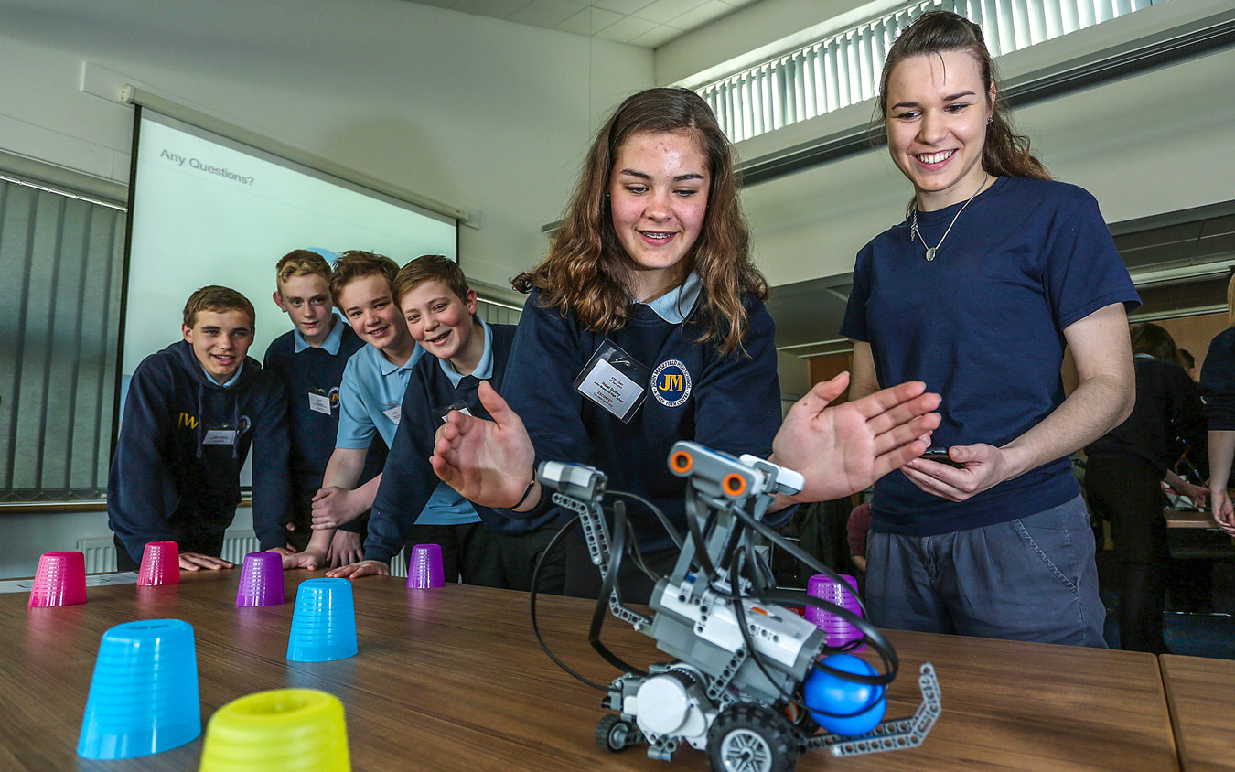 Students explore the possibilities of science and engineering at QinetiQ event