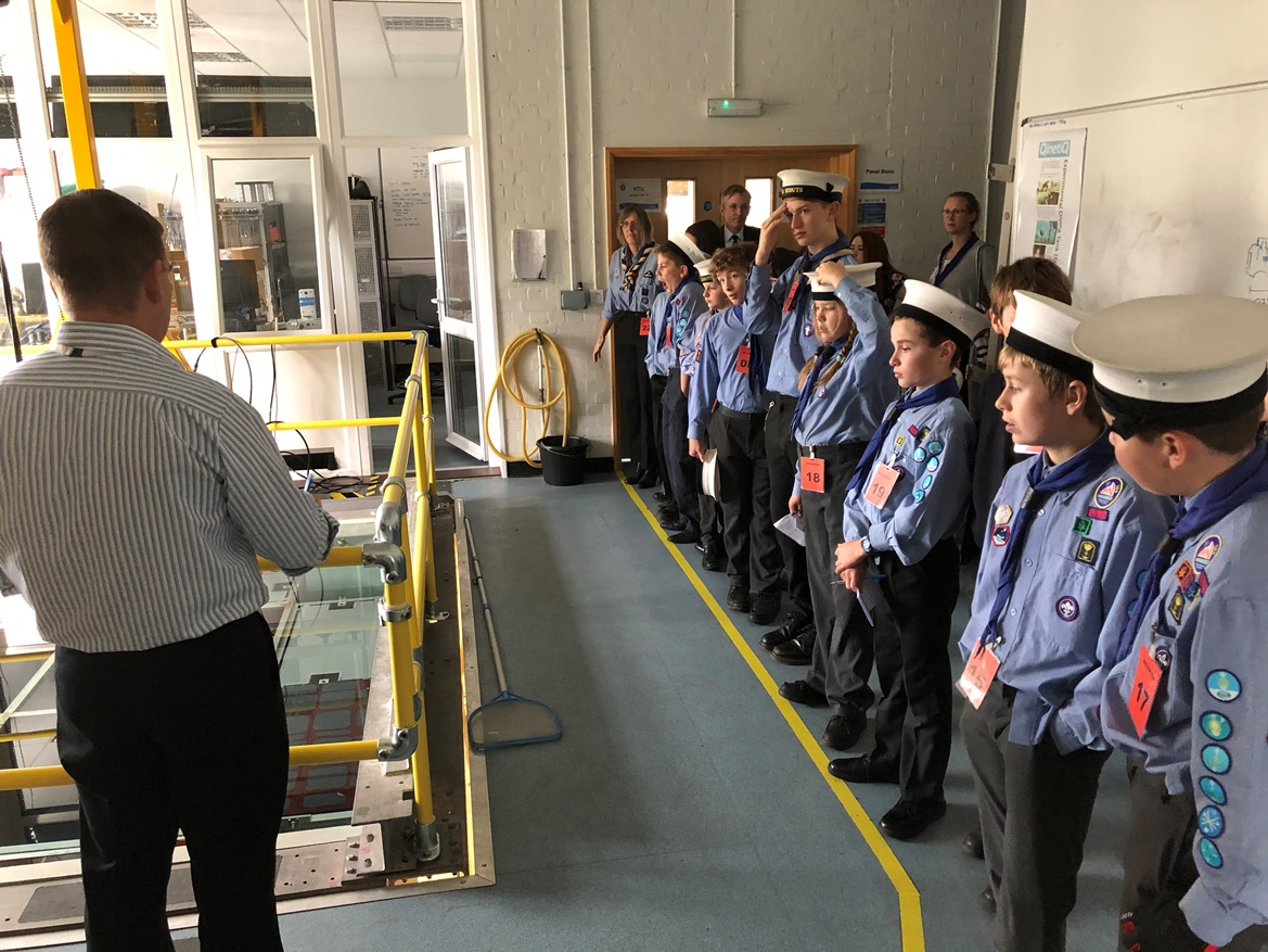 Sea scouts in Haslar
