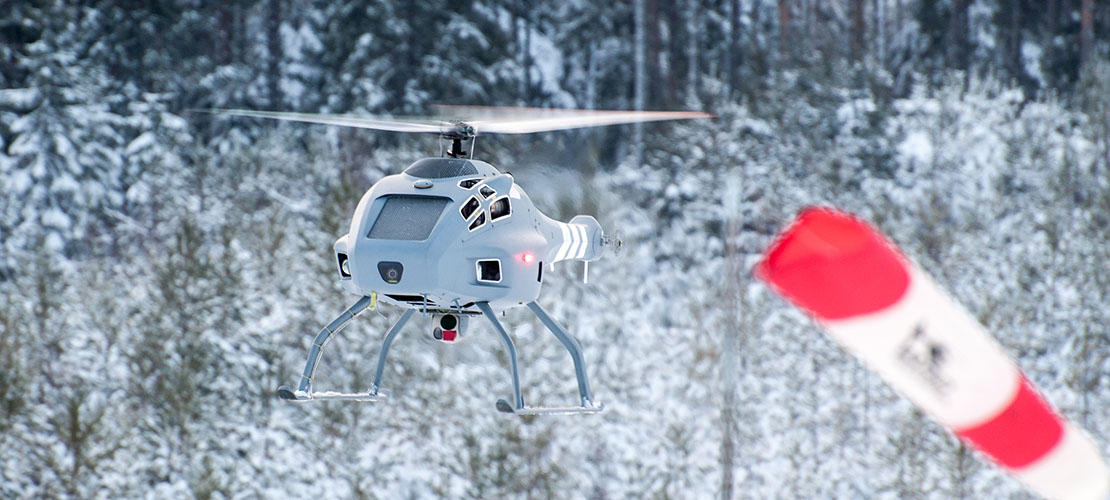 Skeldar V200 in the snow