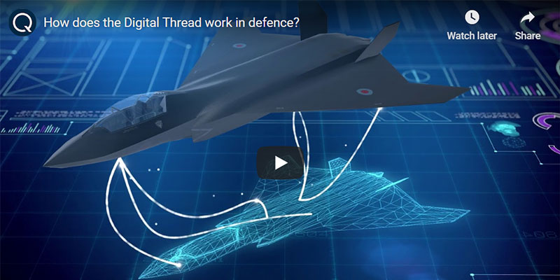 How does the digital thread work in defence