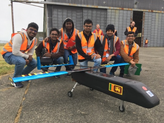 Team from Sri Lanka with their UAS
