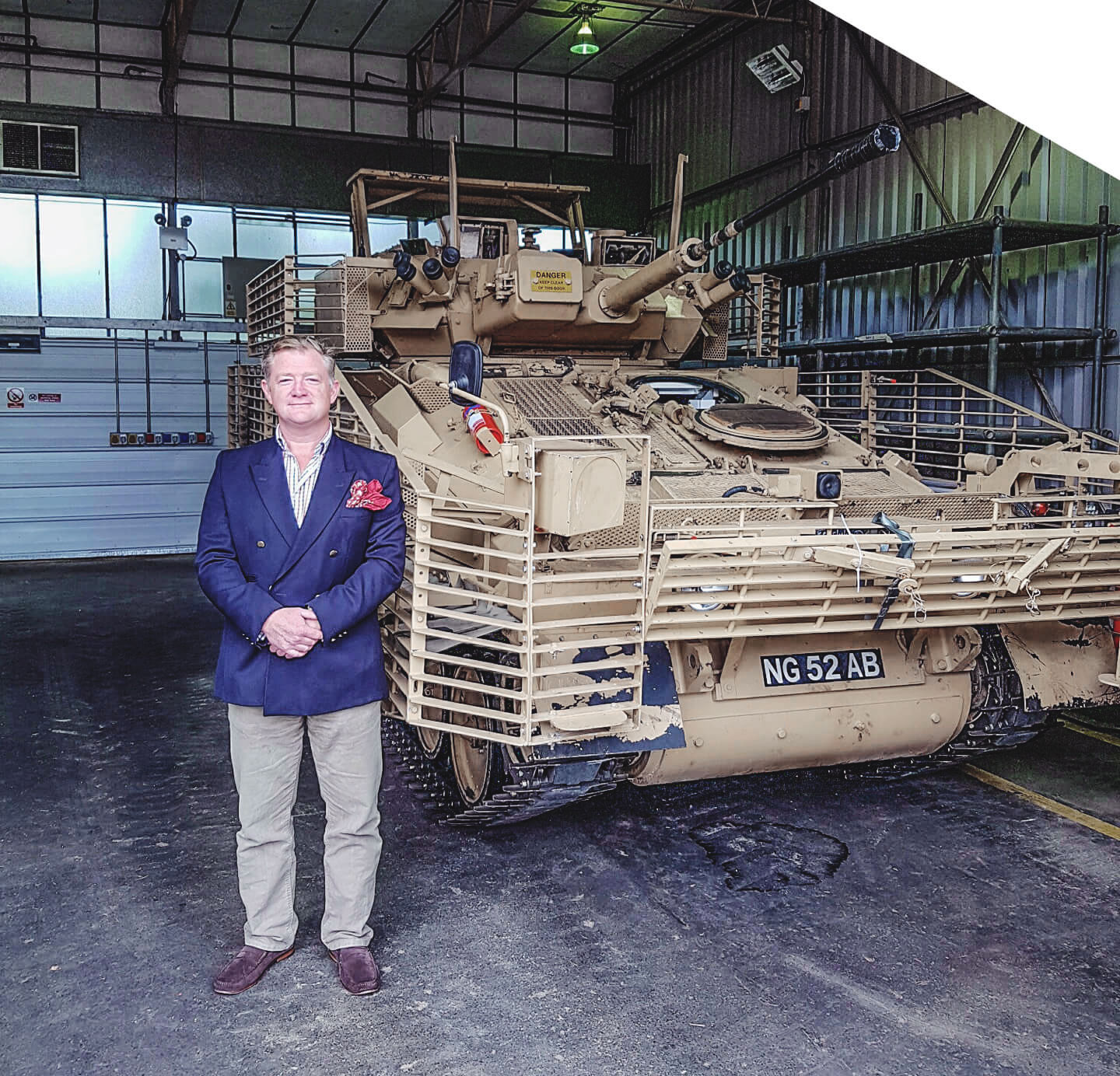 Man standing with tank